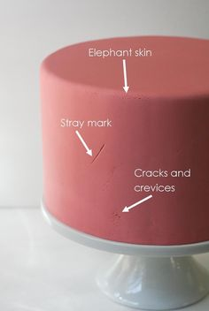 How to fix  elephant skin, stray marks and cracks and crevices in your fondant