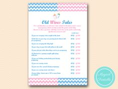 Chalkboard Pink and Blue Party Signs, gender reveal party, old-wives-tales