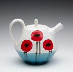 turquoise poppy teapot.