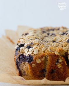 (Vegan) Butter-Topped, Wild Blueberry Muffin Loaf. Baking Sunday.
