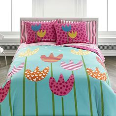 Agatha Ruiz de la Prada Cutie Tulips Comforter Set & Reviews | Wayfair