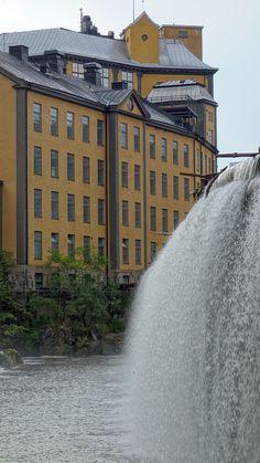 Norkoping, Sweden #waterfall