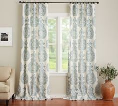 Lucianna Medallion Drape From Pottery Barn Could Be Good For Dining Room Curtain
