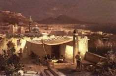 Une terrasse Posilipo - (Franz Richard Unterberger)
