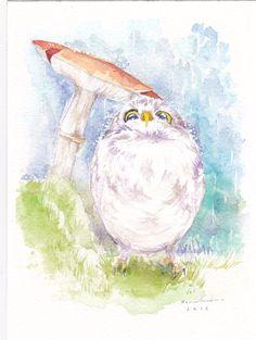 Baby Athene Noctua Owl Original Watercolor Starting bid:$6.50 USD. on #ebay #ebayuk #AtheneNoctuaOwl #owl #owls #wildlife #art #watercolor #painting #watercolorpainting #fineart #bird #illustration #illustrationart #impressionism #lovely #cute #cutebird #decor #decorative #artforsale #modernart #handmade #gift #collectible #impressionism