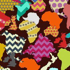 GEOMETRIC WORLD fabric by scrummy on Spoonflower - custom fabric