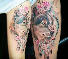 Tattoo photo - Wolf with dreamcatcher tattoo by Kafka Tattoo Indian Feather Tattoos, Tribal Tattoos, Tribal Wolf Tattoo, Tattoos Skull, Body Art Tattoos, Foot Tattoos, Wolf Tattoo Design, Tattoo Designs And Meanings, Tattoo Designs For Women