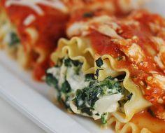 spinach and chicken lasagna rolls 020