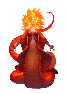 Mother of Serpents pathfinder Fantasy Rpg, Fantasy World, Dark Fantasy, Female Monster, Monster Art, Alien Creatures, Fantasy Creatures, Tokyo Ghoul, Beast Creature