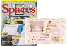 See our ad in this fabulous issue of Decorating Spaces! Cottage Style Decor, Big Design, Pet Beds, Make It Simple, Small Spaces, Toddler Bed, Create Yourself, Craft Ideas, Ads