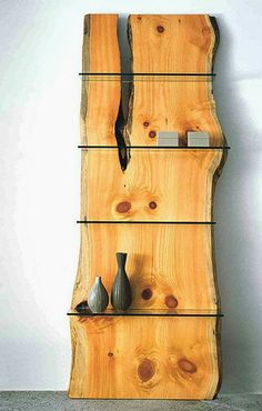 Ore Dock Design - wood and glass #shelf!