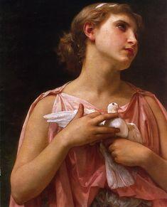 The Dove Fanciers - detail  by Elizabeth Jane Gardner Bouguereau (ARC)