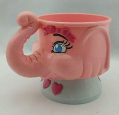 Ringling Bros. & Barnium & Bailey pink elephant juliette cup mug