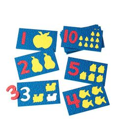 Mini mathematicians learn numbers 1 through 10 with this interactive puzzle. By matching the numeral value with tiny tokens, pint-size pupils are introduced to comparing quantities on their way to building problem-solving skills and number recognition.