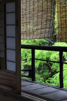 Japanese traditional shade , common reed , Kyoto , Japanese nostalgic