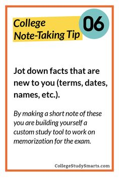 Jot down facts that are new to you (terms, dates, names, etc.).  By making a short note of these you are building yourself a custom study tool to work on memorization for the exam.