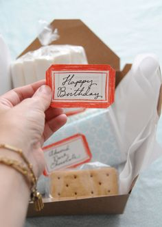 creative gift idea - pretty smore fixins. would be even better with homemade marshmallows.