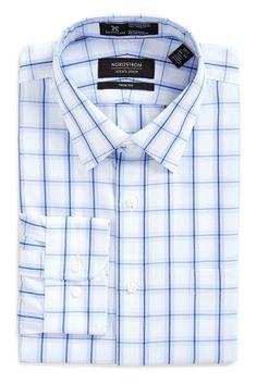 Smartcare(TM) Trim Fit Plaid Dress Shirt