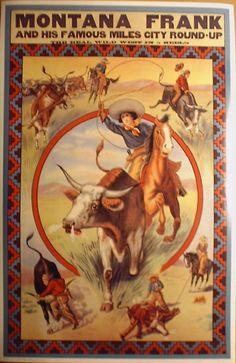 Vintage Cowgirl Posters~ Montana Frank kinda looks like a girl :)