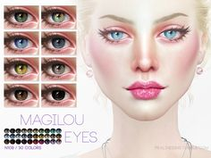 Eyes in 30 colors  Found in TSR Category 'Sims 4 Eye Colors'