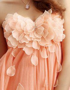 Empire Sweetheart Flower Petal Chiffon Short/Mini Dress > links to shop
