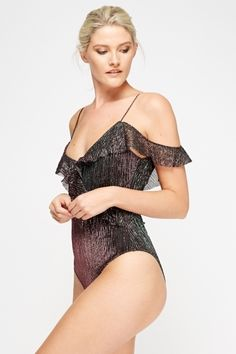 Scoop Back Bodysuit Scoop Back Bodysuit, Get The Look, No Frills, Cold Shoulder, One Piece, Buy Cheap, My Style, Swimwear