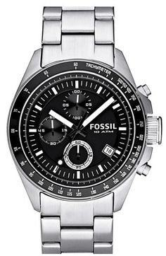 Fossil Chronograph Tachymeter Watch, 44mm - Men