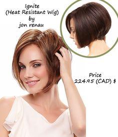 Ignite #heatresistantwig  by Jon Renau Price: 224.95 (CAD)$ http://www.hairandbeautycanada.ca/ignite-heat-resistant-wig/ #wigs   #wigscanada   #naturalhairwigs   #humanhairwig   #shortwigs