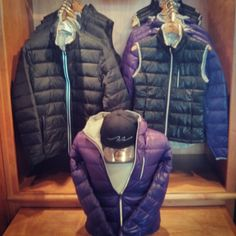 New Second Skin Down jackets and vests for both men and ladies.