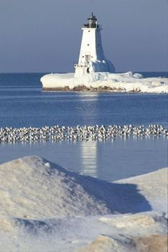 Lake Michigan Light Ludington Michigan. This is what it looks like right now!!!