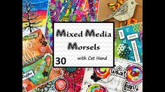 Mixed Media Morsels 30 - Shaving Cream Marbled Background - YouTube