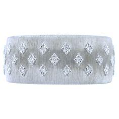 White Gold Buccellati Diamond Cuff