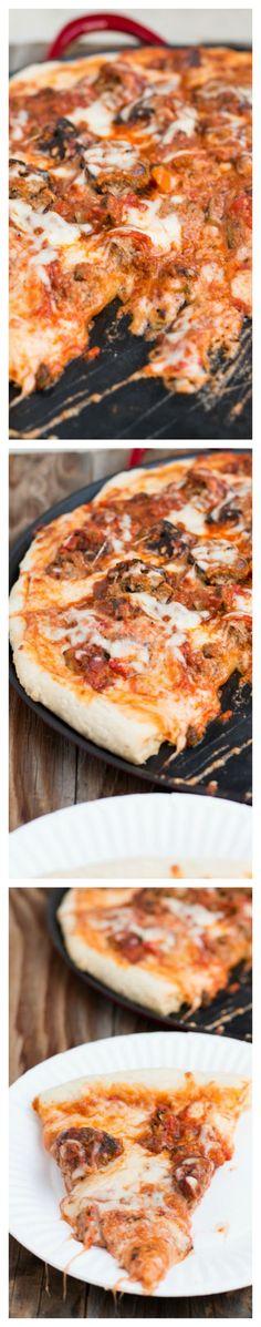 Meatball Lasagna Pizza