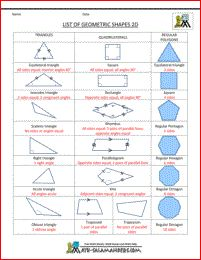 List of geometric shapes 2d