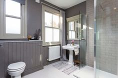 Tongue and Groove in main bathroom Transitional Bathroom by Chris Snook