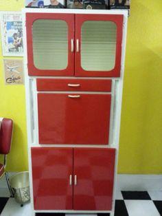 Retro/vintage French 50s/60s Formica Kitchen Cabinet | eBay ...