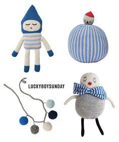 Lucky Boy Sunday. Cute and kind of creepy.