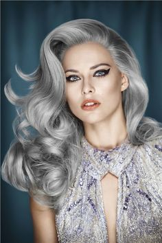 Beautiful silver hair | For the HOTTEST hair ideas follow (http://www.pinterest.com/thevioletvixen/crazy-hair-times/)
