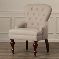 Three Posts Ramblewood Wing Arm Chair Upholstery: Light Brown