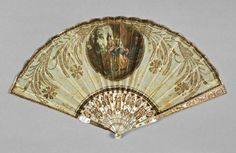 fans  Name: folding fan  Date: circa 1800 — circa 1820  Period: early 19th Century  Dimension(s): length, guards, 24.2, cm width