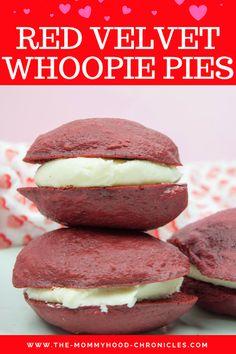 Red Velvet Whoopie Pies Recipe!  #recipes #recipe #whoopiepies #RedWhoopiePies #dessert #kidsdessert #yummy