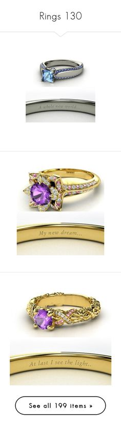 """Rings 130"" by singlemom ❤ liked on Polyvore featuring jewelry, rings, disney, wedding band rings, engagement rings, wedding band engagement ring, comic book, cartoon jewelry, engagement ring and wedding ring"