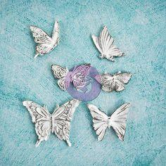 Prima-Shabby-Chic-Treasures-RESIN-BUTTERFLIES-Scrapbook-Embellishment