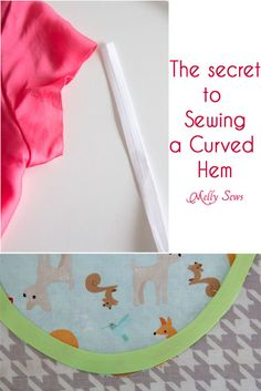 How to sew a curved hem - hem a curve with bias tape
