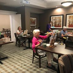 "The Residents at Carp Commons Retirement Village were so excited to get back to Art Class 😊  ""Art enables us to lose ourselves and find ourselves at the same time""! - Thomas Merton   #vervecares #community #artist #staysafe #support #art #carpcommons Thomas Merton, Senior Living, Carp, Ottawa, Retirement, Community, Artist, Home Decor, Common Carp"
