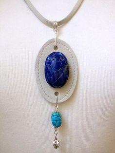 DIY Jewelry DIY Necklace DIY triple scarab beetles pendant