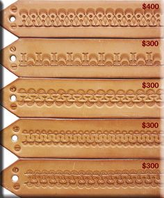 Tooling patterns 1 Leather Stamps, Leather Art, Sewing Leather, Leather Pattern, Leather Design, Leather Tooling, Leather Carving, Leather Craft Tools, Leather Projects