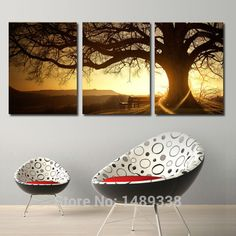 Find More Painting & Calligraphy Information about Framed art 3 Panel Modern Printed Tree Painting Picture Cuadros Sunset Canvas Painting Wall Art Home Decor For Living Room T/938,High Quality art prints for home decor,China art prints home decor Suppliers, Cheap decor from Dafen art on Aliexpress.com