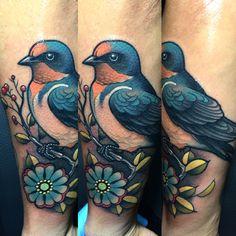 Bird Tattoo by Javier Franco
