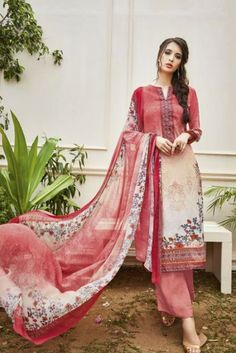 304277a545 Peach Simple Casual Wear Printed Crepe Straight Salwar Suit With Printed  Georgette Dupatta Catalog No :
